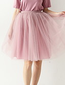 preiswerte Damen Röcke-Damen knielange a line Röcke - einfarbig