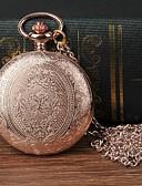 Недорогие Карманные часы-Муж. Карманные часы Кварцевый Розовое золото Повседневные часы Крупный циферблат Аналоговый Цветы Мода - Розовое золото