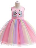 cheap Girls' Dresses-Kids Girls' Active / Sweet Patchwork Short Sleeve Knee-length Dress Pink