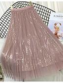 billige Nederdele-kvinders midi swing nederdele - solidfarvet