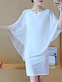 hesapli Kadın Elbiseleri-Kadın's Temel Kılıf Elbise - Solid Mini
