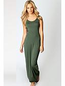 cheap Women's Dresses-Women's Basic A Line Dress - Solid Colored Wine Light Blue Khaki XL XXL XXXL