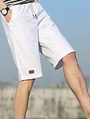 abordables Camisetas y Tops de Hombre-Hombre Básico Shorts Pantalones - Un Color Azul claro