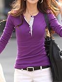 hesapli Gömlek-Kadın's İnce - Gömlek Solid YAKUT