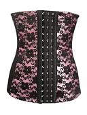 זול מחוכים ובוסטייה-בגדי ריקוד נשים קרס מחוך מתחת לחזה - גיאומטרי, סגנון מודרני / בסיסי סגול ורוד מסמיק אודם XS S M