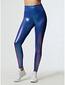 זול טייצים-בגדי ריקוד נשים Temel צועד - אחיד, דפוס מותניים גבוהים פול לבן M L XL