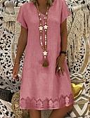 hesapli Kadın Elbiseleri-Kadın's Kılıf Elbise V Yaka Diz-boyu