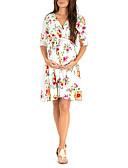 halpa Mekot-Naisten Perus Swing Mekko - Kukka, Painettu Reisipituinen