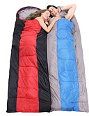 cheap Shorts-Sleeping Bag Outdoor Envelope Rectangular Bag 2 pcs for 2 person -5-15 °C Double Size Cotton Waterproof Portable Windproof Warm Moistureproof Ultra Light (UL) Breathability Anti-Insect Foldable