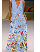 cheap Maxi Dresses-Women's Swing Dress Purple Yellow Light Blue XXXL XXXXL XXXXXL