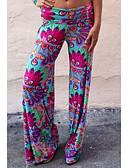 hesapli Kadın Pantolonl-Kadın's Temel İnce Chinos Pantolon - Desen Gökküşağı M L XL