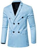رخيصةأون سترات و بدلات الرجال-رجالي أرجواني نبيذ أزرق البحرية XL XXL XXXL سترة