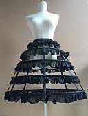 رخيصةأون الأزياء التنكرية التاريخية والقديمة-العروس خمسينيات كوستيوم لوليتا كلاسيكية وتقليدية نسائي ثوب نسائي القرينول قماش قطني أبيض / أسود عتيقة تأثيري قطن مناسب للحفلات أداء أميرة