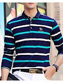 povoljno Muške polo majice-Polo Muškarci Prugasti uzorak Kragna košulje Plava XL