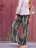 halpa Naisten housut-Naisten Perus Ohut Chinos housut Housut - Painettu Kukka-aihe Rubiini Harmaa Purppura M L XL
