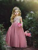 povoljno Haljine za djevojčice-Djeca Dijete koje je tek prohodalo Djevojčice slatko Slatka Style Dusty Rose Geometrijski oblici Color block Vezanje straga Print Bez rukávů Haljina Blushing Pink