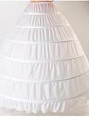 billige Leker og hobbyer-Brud Classic Lolita 1950-tallet Lag-på-lag Kjoler Underskjørt crinoline Dame Jente Kostume Hvit Vintage Cosplay Bomull Bryllup Fest Prinsesse