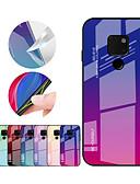זול מגנים לטלפון-מגן עבור Huawei Mate 10 pro / Mate 10 lite / Huawei Mate 20 lite עמיד בזעזועים כיסוי אחורי צבע הדרגתי קשיח TPU / זכוכית משוריינת