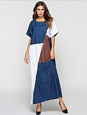 cheap Arabian Clothing-Women's A Line Dress Blue L XL XXL