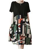cheap Print Dresses-Women's Sophisticated Elegant Sheath Dress - Color Block Black XXXL XXXXL XXXXXL