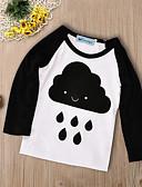 tanie Topy Chłopięce dla niemowląt-Dziecko Dla chłopców Aktywny / Podstawowy Geometric Shape / Nadruk Długi rękaw Bawełna / Poliester T-shirt Czarny