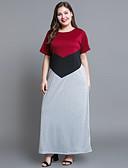 halpa Pluskokoiset mekot-Naisten Puuvilla Löysä Suora Mekko Maxi