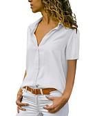 halpa T-paita-Naisten Paitapuserokaula-aukko Yhtenäinen Pluskoko - Paita Musta