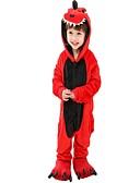 Χαμηλού Κόστους Φορέματα για κορίτσια-Πιτζάμα Kigurumi Δεινόσαυρος Πιτζάμα Onesie Βαμβακοφανέλλα Κόκκινο Cosplay Για Αγόρια και κορίτσια ζώο Πυτζάμες Κινούμενα σχέδια Γιορτές / Διακοπές Κοστούμια