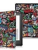 halpa Muu tapaus-Etui Käyttötarkoitus Amazon Kindle Lite (2019) / Kindle PaperWhite 4 / Kobo Forma Iskunkestävä / Flip / Origami Suojakuori Sana / lause Kova PU-nahka