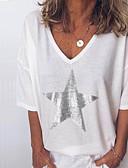 お買い得  携帯電話ケース-女性用 プリント Tシャツ ベーシック Vネック ソリッド / グラフィック ピンク XXL