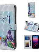 זול מגנים לטלפון-מגן עבור Huawei Huawei P20 Pro / Huawei P20 lite / Huawei P30 ארנק / מחזיק כרטיסים / עם מעמד כיסוי מלא אנימציה קשיח עור PU / P10 Lite