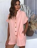 preiswerte Abendkleider-Damen Grundlegend / Boho Rote Rosa Beige Jumpsuit, Solide XL XXL XXXL