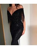 preiswerte Abendkleider-Trompete / Meerjungfrau V-Ausschnitt Pinsel Schleppe Pailletten Kleid mit Paillette durch LAN TING Express