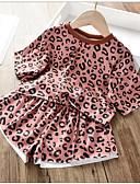 billige Tøjsæt til piger-Børn Pige Basale Prikker Langærmet Polyester Tøjsæt Orange