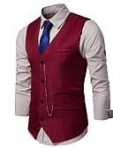 hesapli Erkek Blazerları ve Takım Elbiseleri-Erkek Blazer Şal Yaka Polyester Beyaz / Siyah / Şarap L / XL / XXL