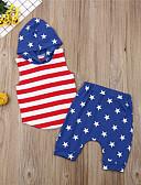 זול סטים של ביגוד לתינוקות-סט של בגדים כותנה ללא שרוולים דפוס פסים / גיאומטרי יום יומי / בסיסי בנים תִינוֹק / פעוטות