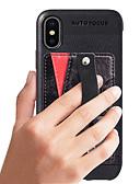 זול מגנים לאייפון-מגן עבור Apple iPhone XS Max ארנק / מחזיק כרטיסים / עמיד בזעזועים כיסוי מלא אחיד קשיח עור PU