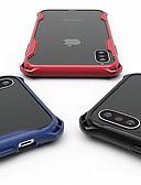 זול מגנים לאייפון-מגן עבור Apple iPhone XS / iPhone XR / iPhone XS Max עמיד בזעזועים / שקוף כיסוי אחורי אחיד / שקוף קשיח TPU / PC