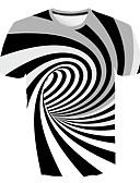 hesapli En Çok Satanlar-Erkek Yuvarlak Yaka İnce - Tişört Geometrik AB / ABD Beden Beyaz XXL