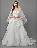 povoljno Vjenčanice-A-kroj Bez naramenica Srednji šlep Čipka / Til Izrađene su mjere za vjenčanja s Čipka po LAN TING BRIDE®