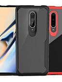 זול מגנים לטלפון-מגן עבור OnePlus OnePlus 6 / One Plus 6T / אחת פלוס 7 שקיפות כיסוי אחורי אחיד קשיח PC