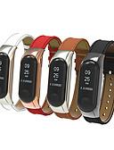 זול להקות Smartwatch-צפו בנד ל Mi Band 3 Xiaomi רצועת ספורט מתכת / עור אמיתי רצועת יד לספורט