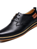 cheap Men's Clothing-Men's Comfort Shoes Cowhide Fall & Winter Oxfords Black / Blue