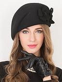 זול שמלות מודפסות-100% צמר ביגוד לראש עם אפליקציות חלק 1 לבוש יומיומי / בָּחוּץ כיסוי ראש