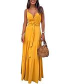 povoljno Maxi haljine-Žene Elegantno A kroj Haljina Jednobojni Maxi