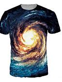 זול חולצות לגברים-גלקסיה / 3D / גראפי טישרט - בגדי ריקוד גברים דפוס פול