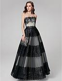 povoljno Maturalne haljine-A-kroj Bez naramenica Do poda Čipka Formalna večer Haljina s Čipkasti umetak po TS Couture®