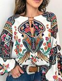 hesapli Maksi Elbiseler-Kadın's Gömlek Desen, Geometrik Temel Beyaz
