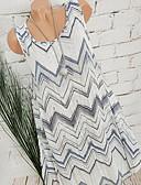 お買い得  ヴィンテージドレス-女性用 Aライン ドレス 幾何学模様 膝丈