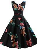 tanie Sukienki-Damskie Vintage Linia A Sukienka Do kolan
